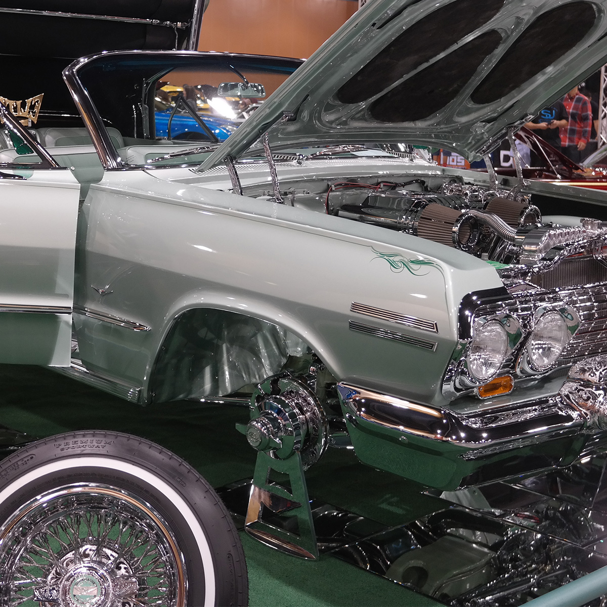 Lowrider at Car Show